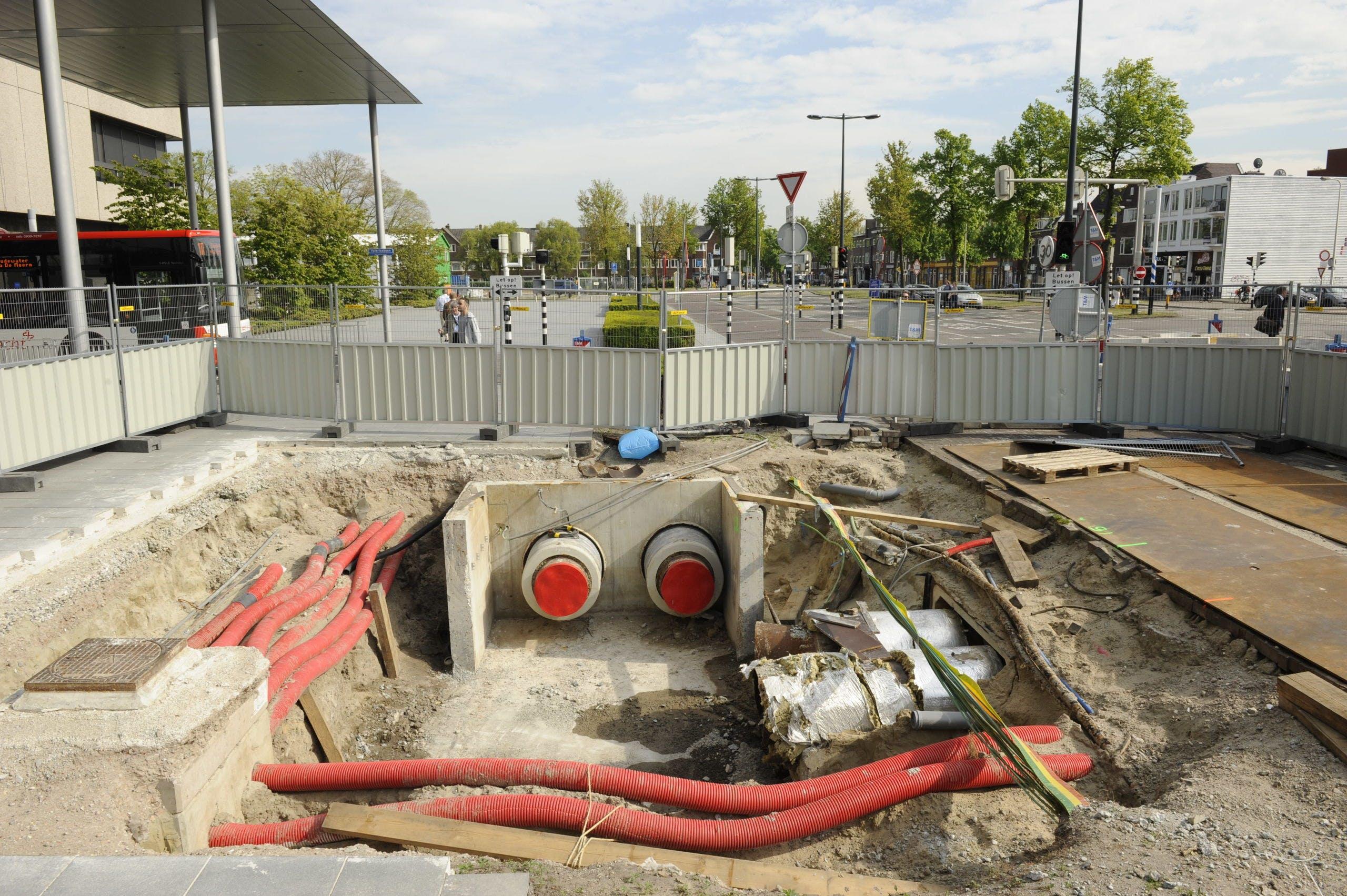 Aanleg van een warmtenet in het stationsgebied in Utrecht