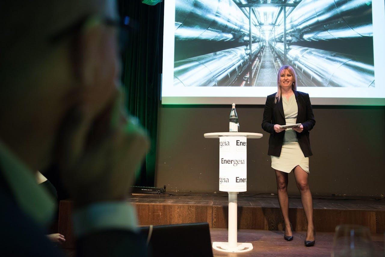 Bjørk Paamand Olsen, CEO van het Deense warmtebedrijf Holte Fjernvarme, sprak woensdag op de bijeenkomst Energeia Energy Perspective.