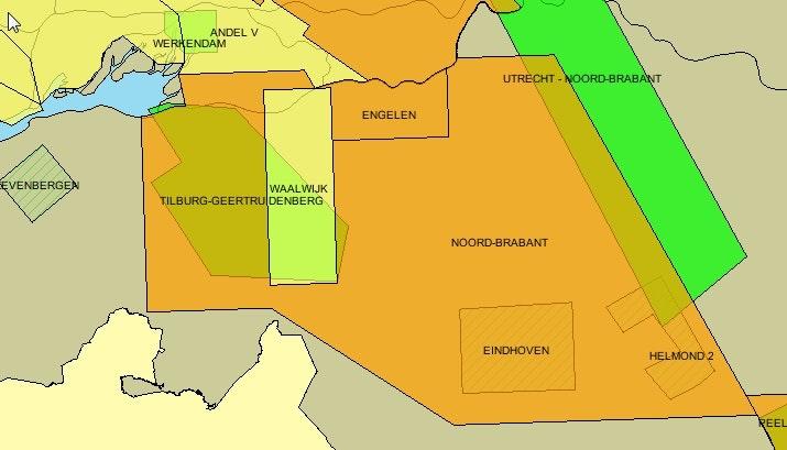 De overlap vergunningsgebieden van aardwarmte en schaliegas in Noord-Brabant